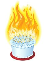 Birthday Cake on Fire stock vectors - Clipart.me jpg library