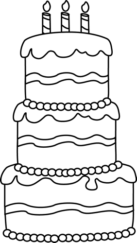 Birthday cake outline clip art image transparent download Black and White Big Birthday Cake Clip Art - Black and White Big ... image transparent download