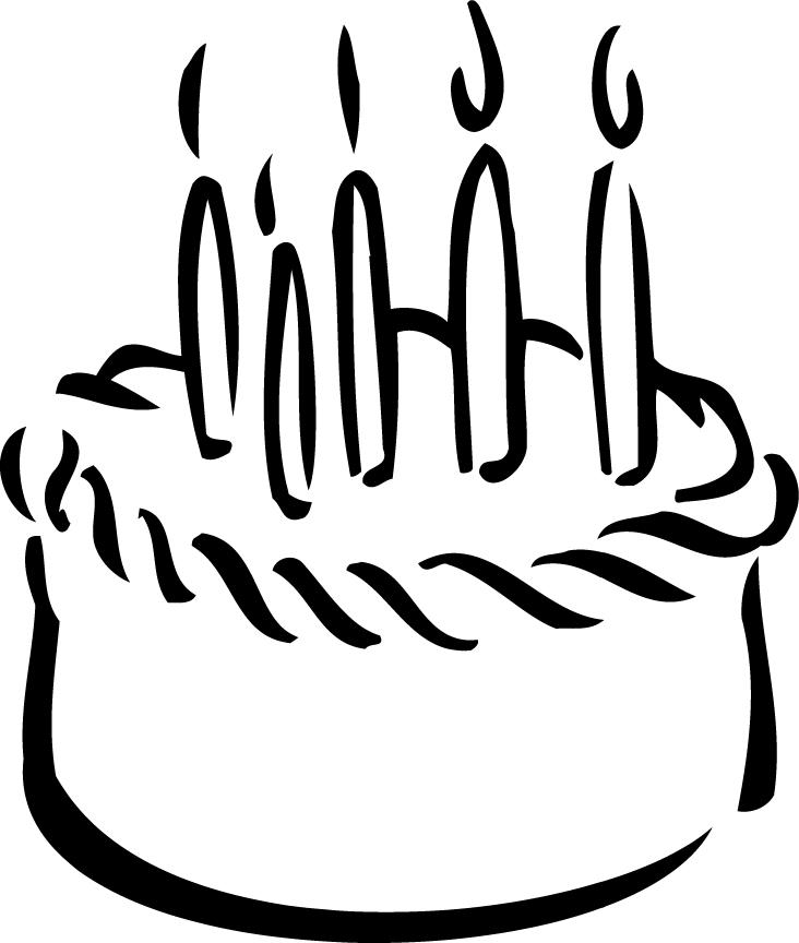 Birthday cake outline clip art clipart black and white Cake Outline Clipart - Clipart Kid clipart black and white