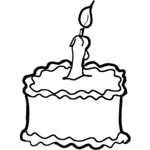 Birthday cake outline clip art clip freeuse download Full Version of Birthday Cake with Candle Outline Clipart - Polyvore clip freeuse download