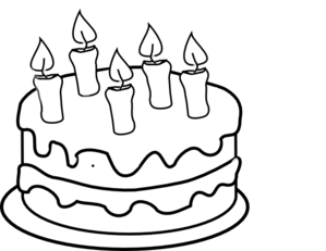 Birthday cake outline clip art clip art Birthday cake clip art black and white - ClipartFest clip art