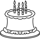 Birthday cake outline clip art vector royalty free library Birthday cake clip art black and white - ClipartFest vector royalty free library