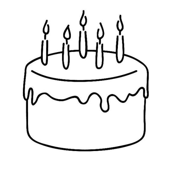 Birthday cake outline clip art png download Birthday cake outline clip art - ClipartFest png download