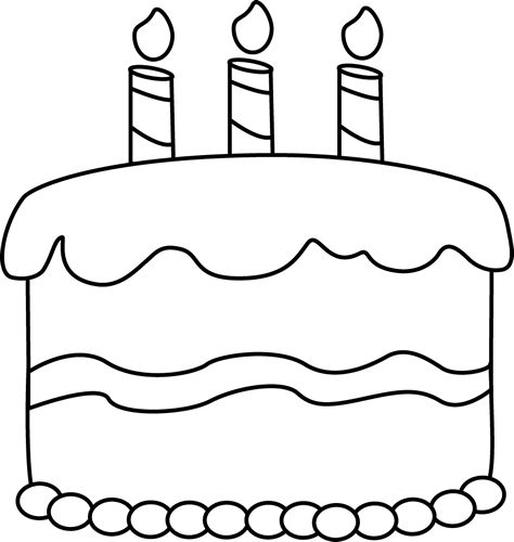 Birthday cake outline clip art graphic free Cake Outline Clipart - Clipart Kid graphic free