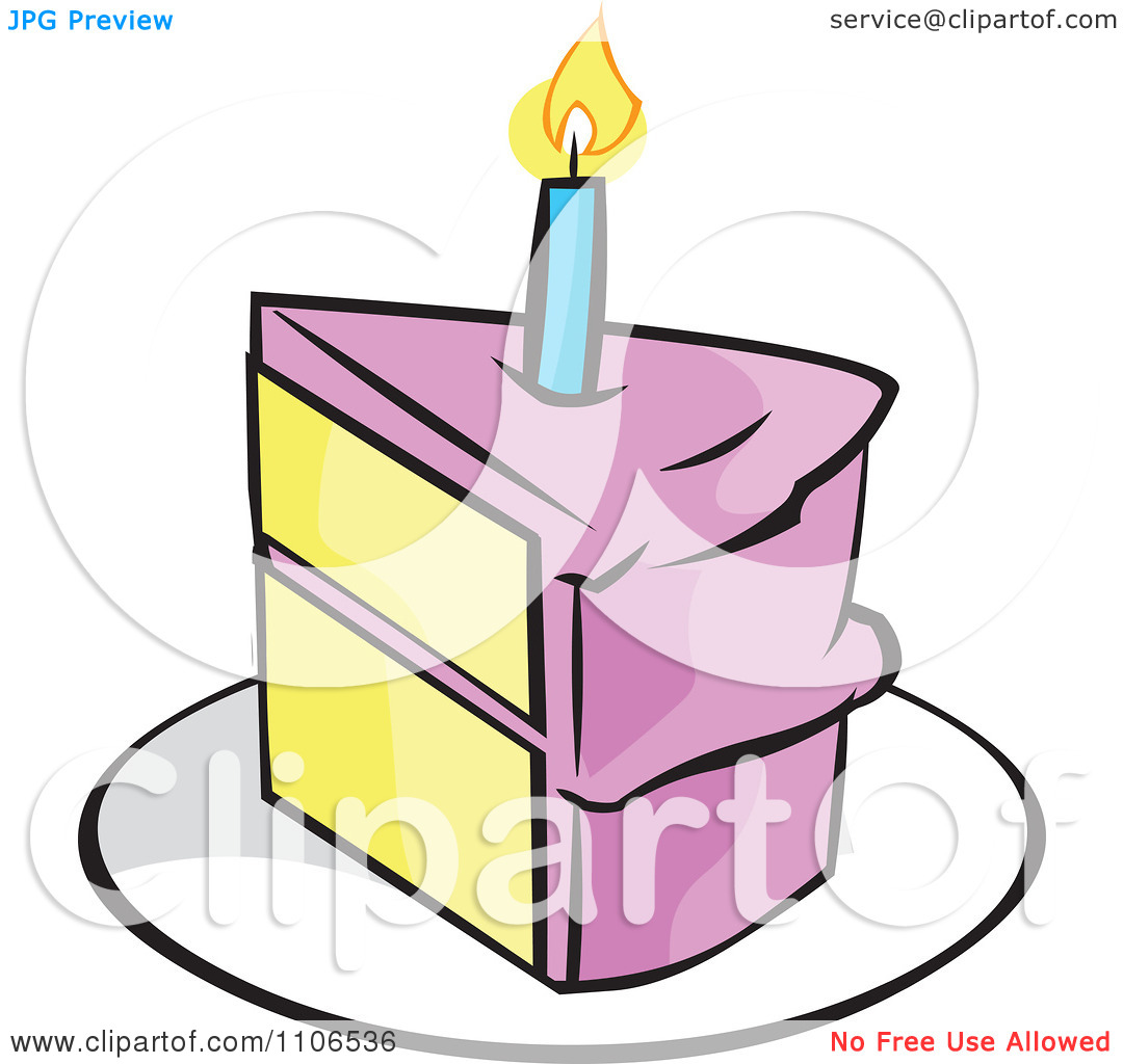 Birthday cake slice clipart clipart black and white download Birthday Cake Slice Clipart | Clipart Panda - Free Clipart Images clipart black and white download