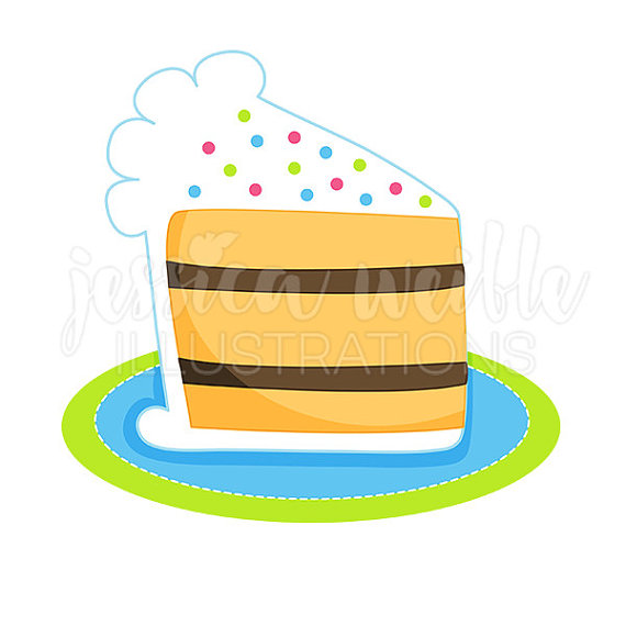 Birthday cake slice clipart clip royalty free stock Slice of Birthday Cake Cute Digital Clipart, Cake Clip art ... clip royalty free stock