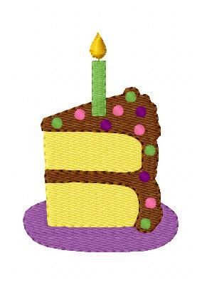 Birthday cake slice clipart vector transparent Clipart birthday cake slice - ClipartFest vector transparent