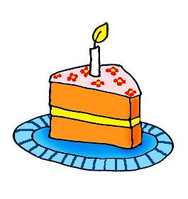 Birthday cake slice clipart vector black and white stock Birthday Cake Slice Clip Art | Clipart Panda - Free Clipart Images vector black and white stock