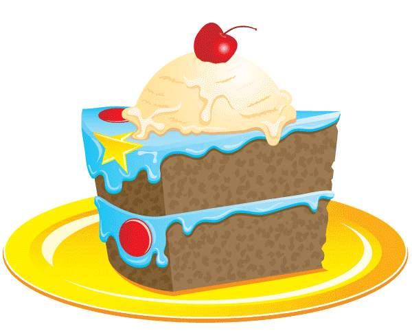 Birthday cake slice clipart banner download Clipart birthday cake slice - ClipartFest banner download
