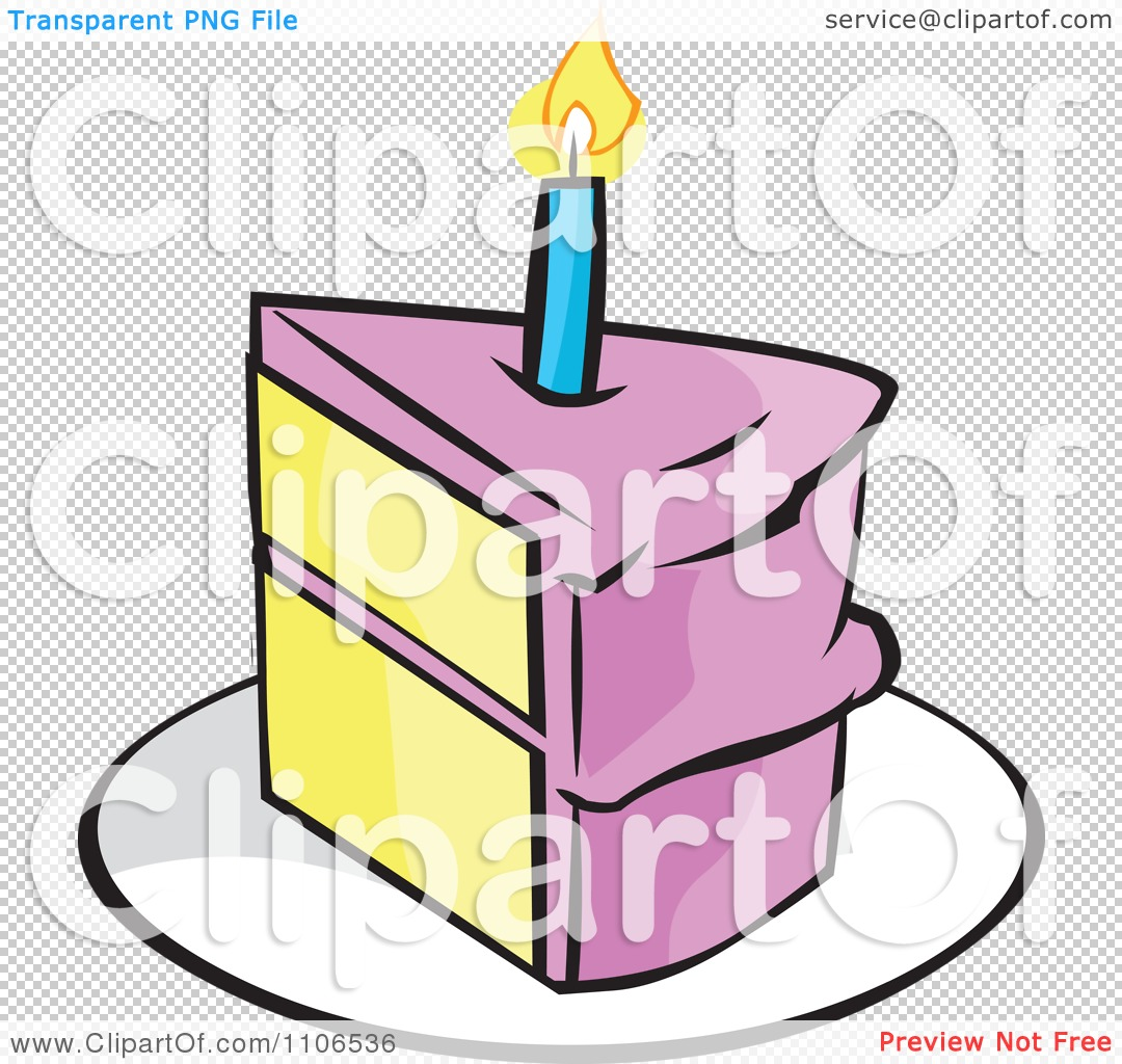 Birthday cake slice clipart vector free download Clipart birthday cake slice - ClipartFest vector free download