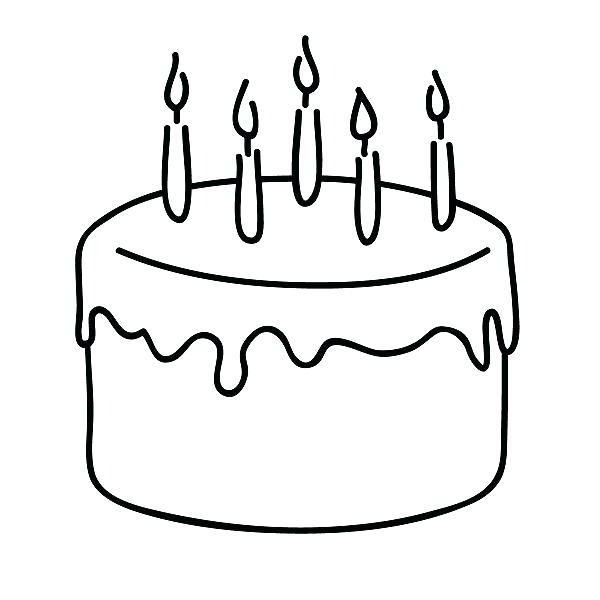 Birthday cake to color clipart clip art transparent Birthday cake clip art blank - 15 clip arts for free download on EEN clip art transparent