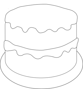 Birthday cake to color clipart clip royalty free download Birthday Cake To Color Clip Art at Clker.com - vector clip art ... clip royalty free download