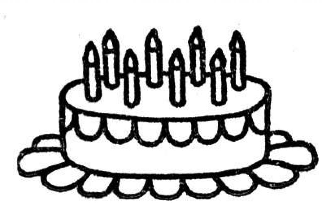 Birthday cake to color clipart image library Free Birthday Cake Outline, Download Free Clip Art, Free Clip Art on ... image library