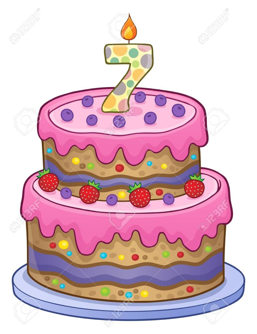 32+ Exclusive Picture of 7 Year Old Birthday Cake | Best Birthday ... clip art download