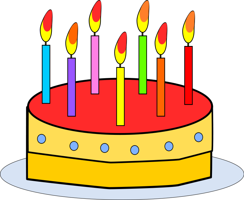 Free clipart of happy birthday with 4 candle. Pictures download clip art