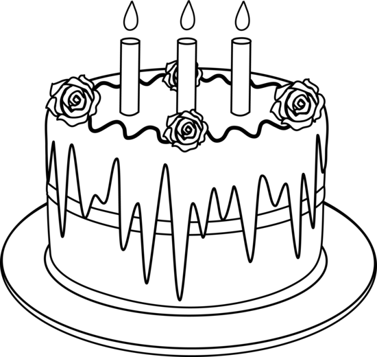 Birthday cake turning ten clipart clip library download Outline of Birthday Cake With Candles | Desserts | Art birthday cake ... clip library download