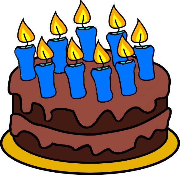 Birthday cake with candles for boy clipart graphic freeuse library Birthday cake with candles for 11 year old boy clipart - ClipartFest graphic freeuse library