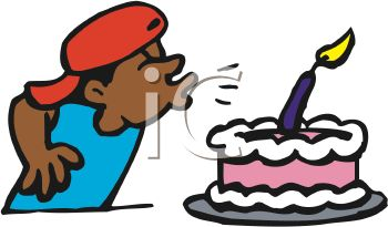 Birthday cake with candles for boy clipart clip art free download Royalty Free Clipart Image: Boy Blowing Out Candle On His Birthday ... clip art free download