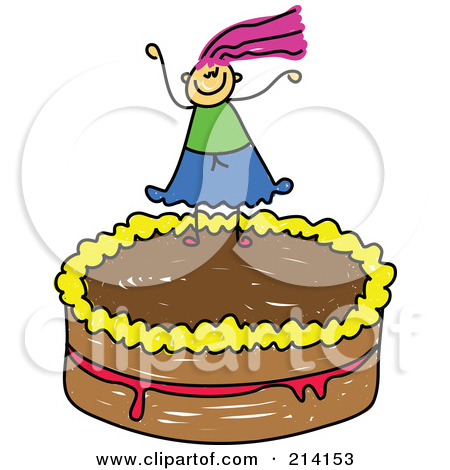 Birthday cake with candles for boy clipart svg royalty free stock Royalty-Free (RF) Clipart Illustration of a Childs Sketch Of A Boy ... svg royalty free stock