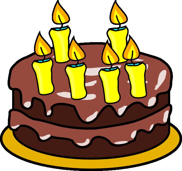 Clipart birthday cake free image freeuse 6th Birthday Candle Clipart - Clipart Kid image freeuse
