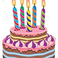Birthday Cake With Lots Of Candles Clipart - Delicious Cake Recipe clipart transparent stock