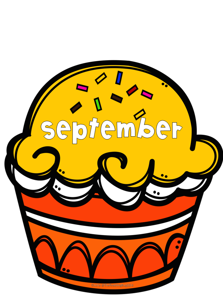 Birthday cake with months of the year clipart free clip black and white library Birthday Decor for your classroom | ThirdGradeTroop.com | Classroom ... clip black and white library