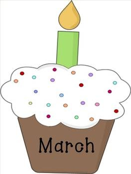 Birthday cake with months of the year clipart free jpg royalty free download Free March Birthday Cliparts, Download Free Clip Art, Free Clip Art ... jpg royalty free download