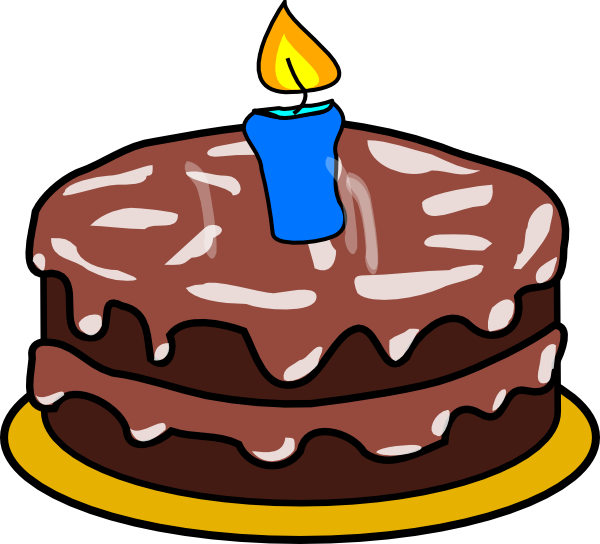 Clipartfest free clip art. Birthday cake with one candle clipart