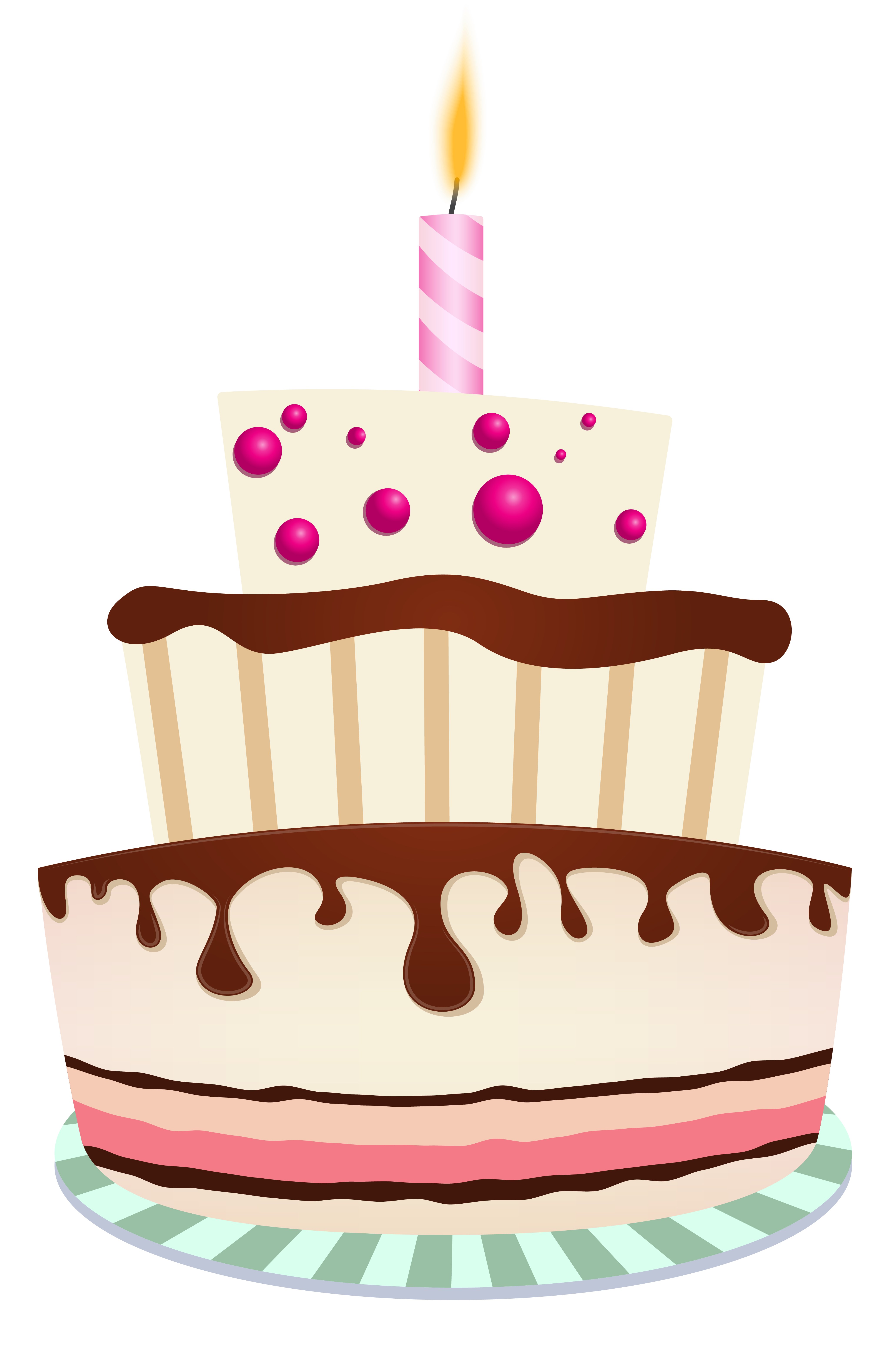 Happy birthday cake with candles clipart graphic transparent download Birthday Cake with One Candle PNG Clipart Image graphic transparent download