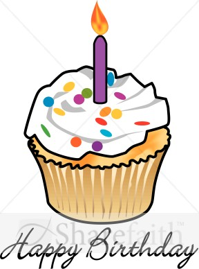 Cupcake clipartfest birthdaycupcakeswith . Birthday cake with one candle clipart