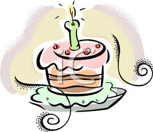 Birthday cake with one candle clipart picture transparent download Birthday Cake With One Candle - Royalty Free Clipart Picture picture transparent download