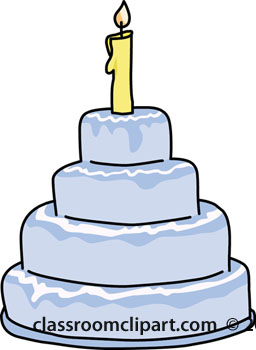 Birthday cake with one candle clipart. Clipartfest birthdaycakeonecandleblue