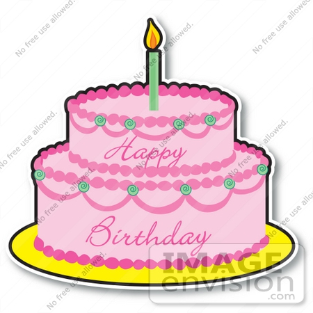 Lots of candles http. Birthday cake with one candle clipart