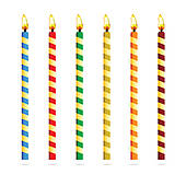 Birthday candle border clipart clip art free library Fifth Birthday Clip Art - Royalty Free - GoGraph clip art free library