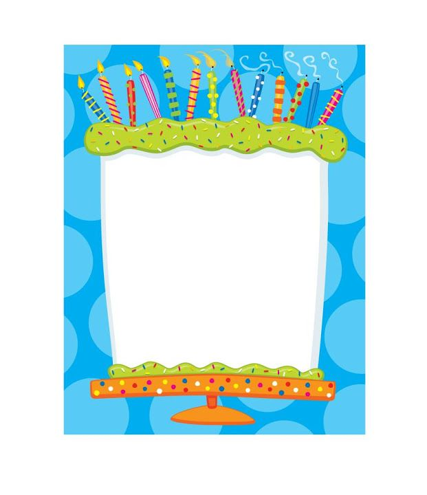 Birthday candle border clipart picture download 17 Best images about Cumpleaños on Pinterest | Birthday candles ... picture download