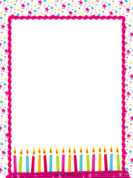 Birthday candle border clipart clip library download Birthday border birthday candles party border – Gclipart.com clip library download