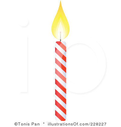 Clipart black and white. Birthday candle clip art