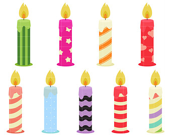 Clipart etsy fun candles. Birthday candle clip art