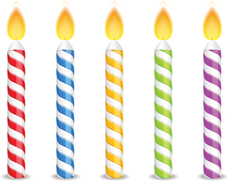 Birthday candle clipart. Clip art candles vector