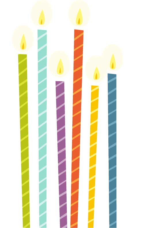 Birthday candle clipart.  candles kid pictures