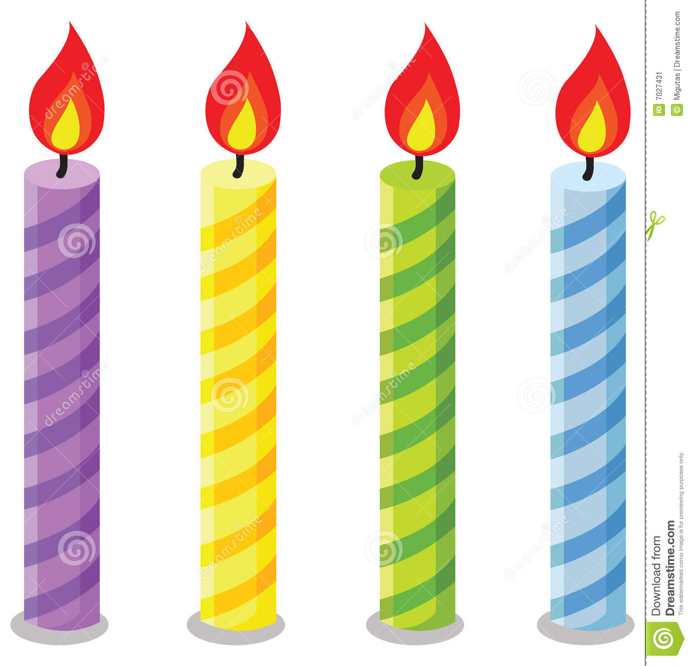 Birthday candle clipart.  candles kid stock