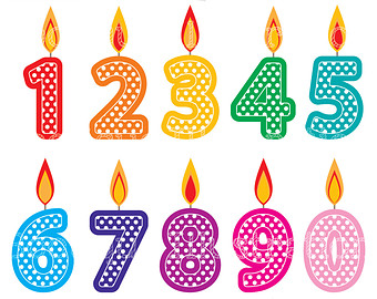clipartfest number candles. Birthday candle clipart