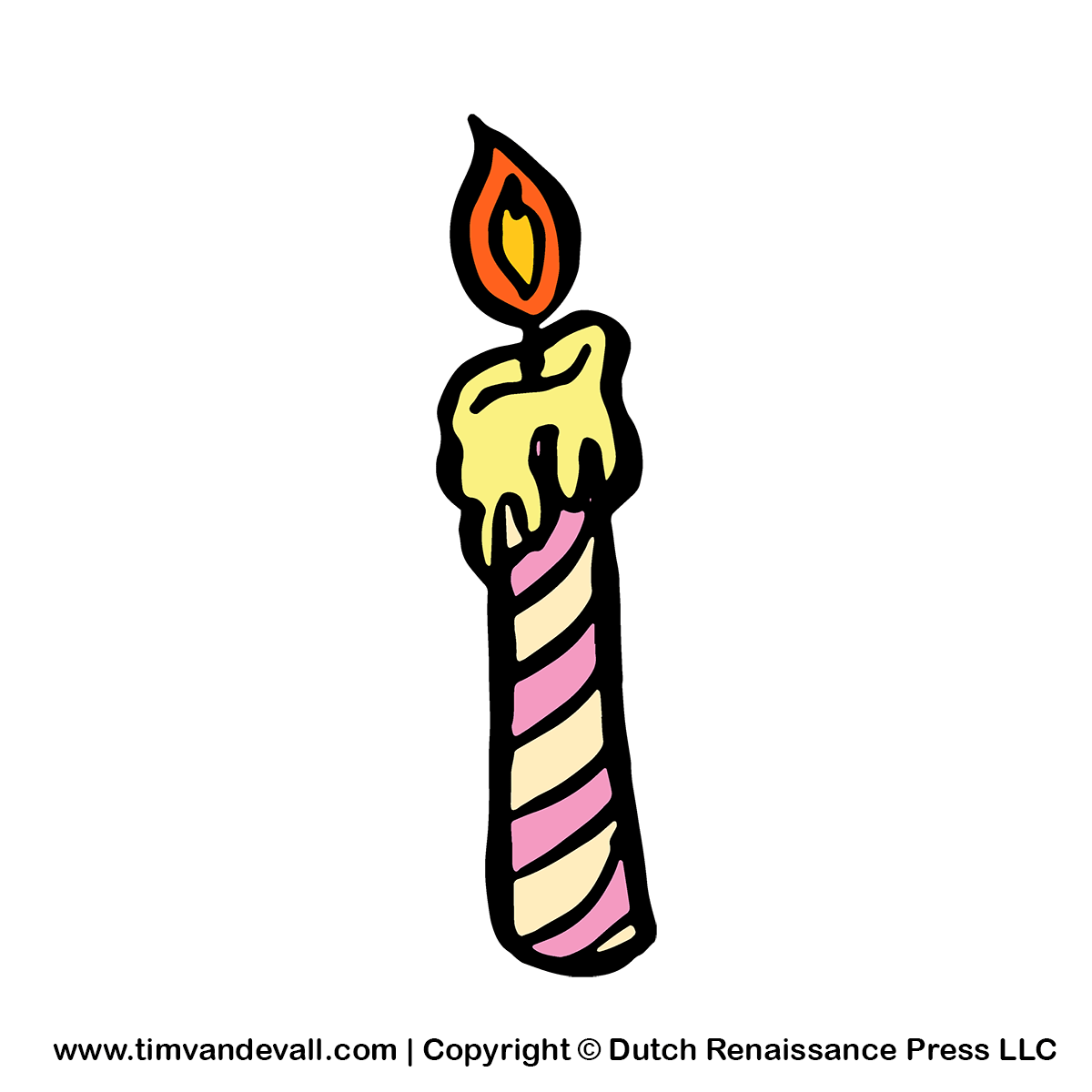 Kid free party for. Birthday candle clipart