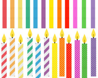 Birthday candle clipart. Etsy candles digital clip
