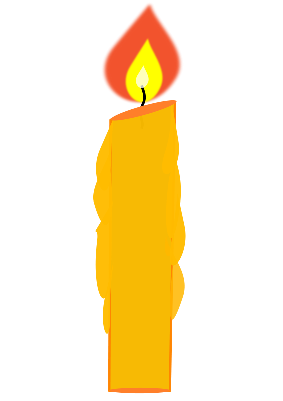 Free download clip art. Birthday candle clipart animated