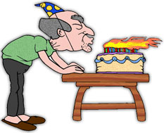 Graphics free blowing out. Birthday candle clipart animated