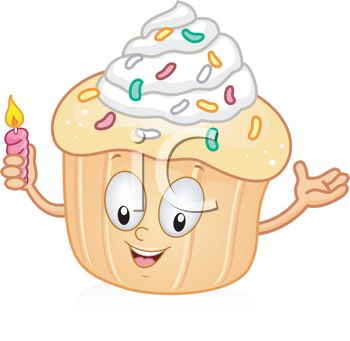 Birthday candle clipart animated svg library stock Royalty Free Clipart Image: Cartoon of an Animated Cupcake Holding ... svg library stock