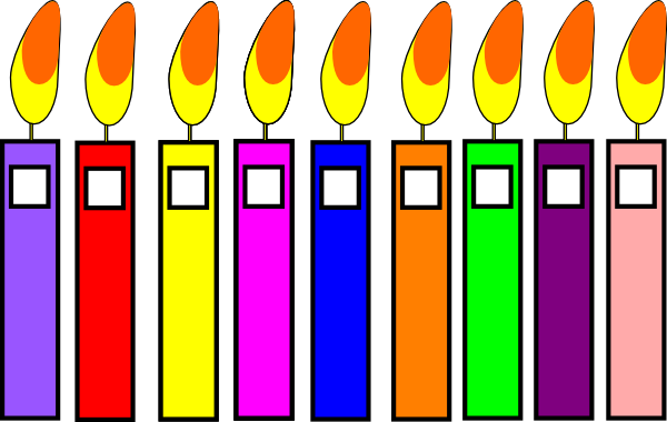 Birthday candle clipart animated. Kid candles clip art