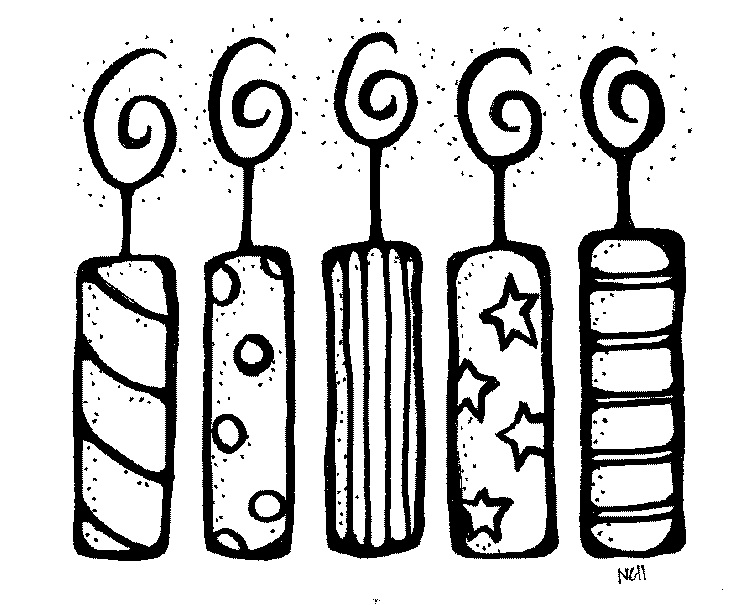 Birthday candle clipart black and white with lines banner transparent stock Birthday candle clipart black and white 5 » Clipart Station banner transparent stock