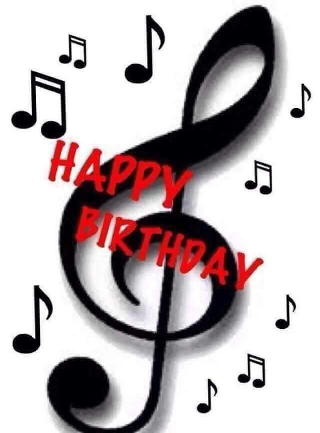Birthday card for musician black and white clipart image black and white Happy Birthday | happy birthday | Happy birthday, Birthday, Happy ... image black and white